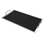 Trays with rubber mat