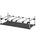 Trays with support bars